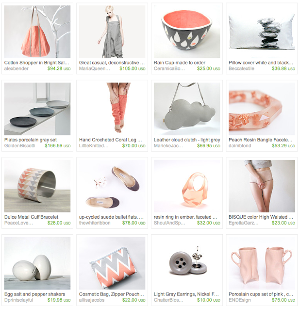 Zen inspired giftguide on Etsy #zen #coral #gray