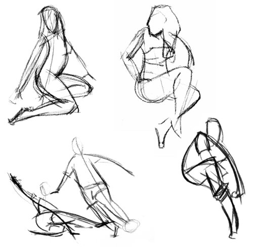 Line Drawing Figure : Basic drawing examples of gesture from the web