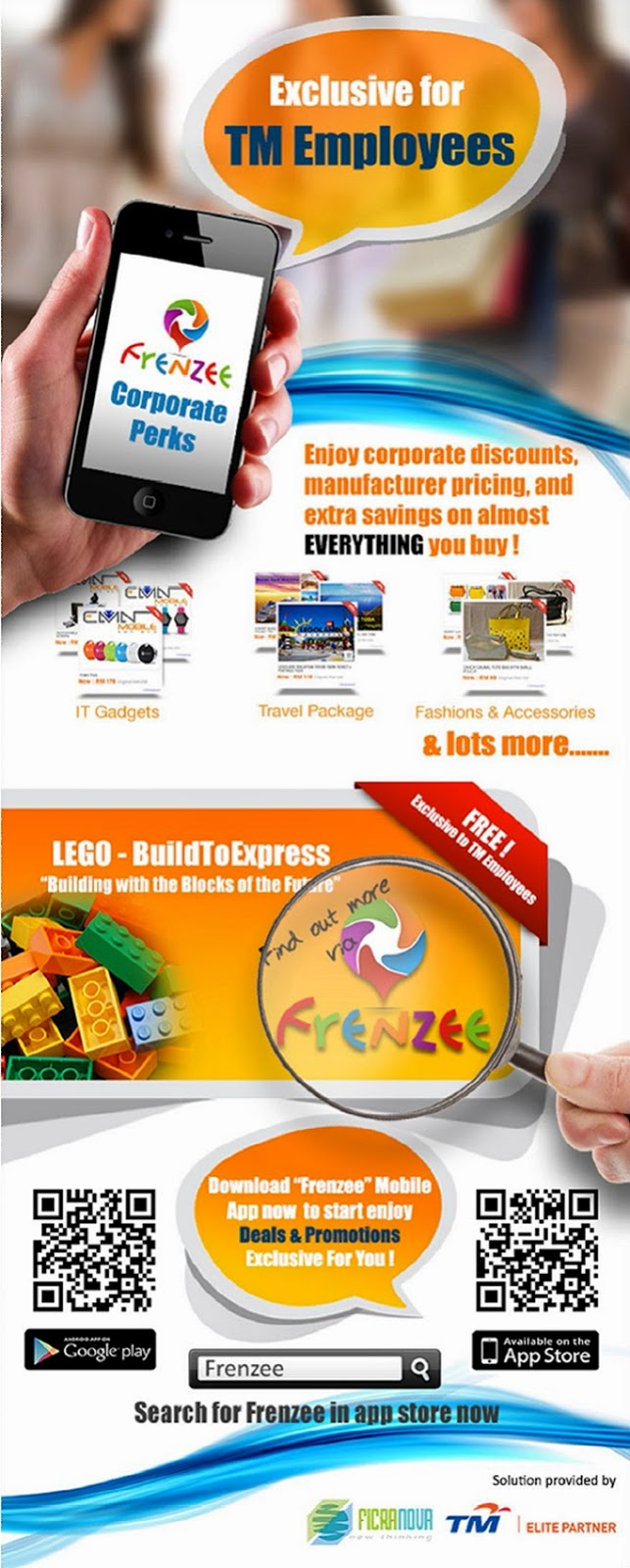 Exclusive for TM Employees. Download the 'Frenzee' Application Today