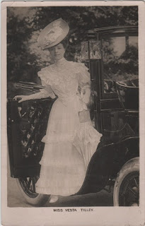 Vintage postcard of Miss Vesta Tilley