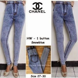 Celana Jegging Channel, Channel Snow Blue, Celana Jeans Wanita, Jual Celana Jeans, Grosir celana Jeans, Celana Jeans Murah, Celana Jegging