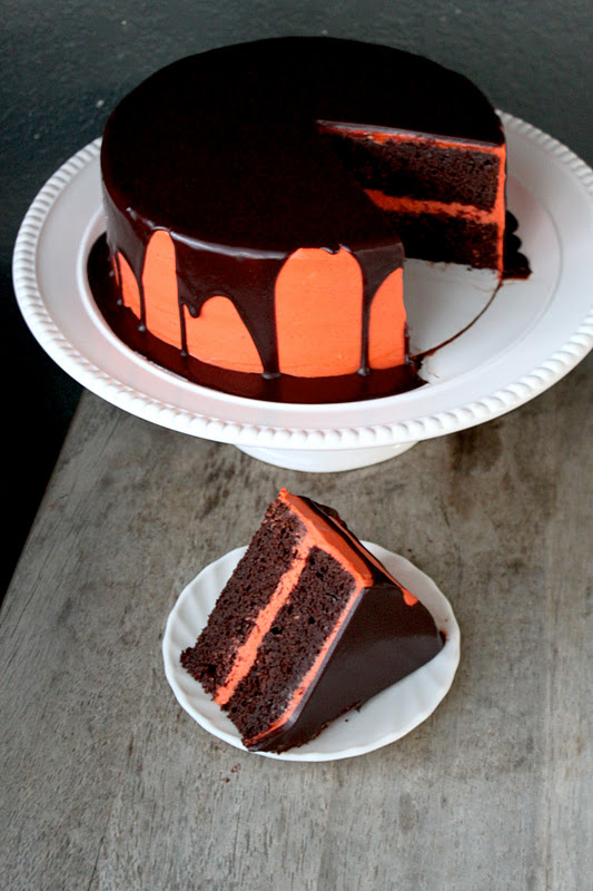 Chocolate Pumpkin Cake , adapted from Country Living