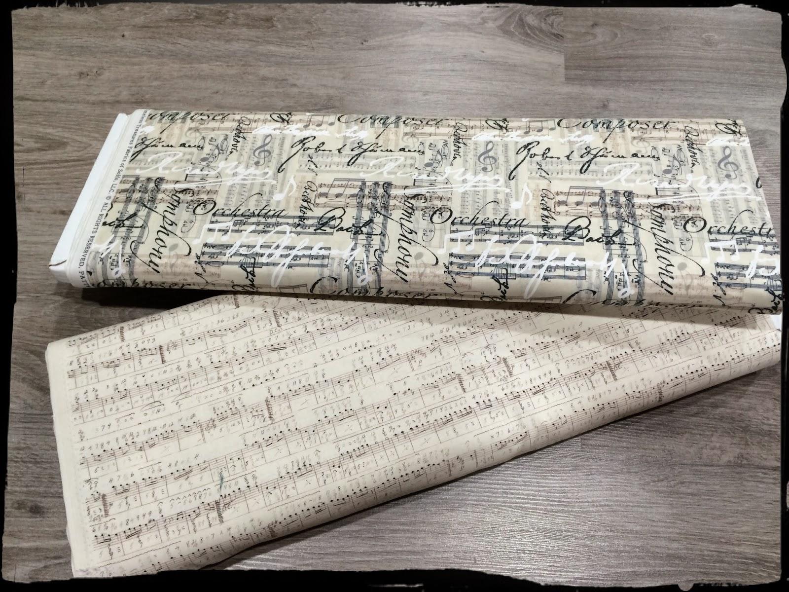 Telas de patchwork de música