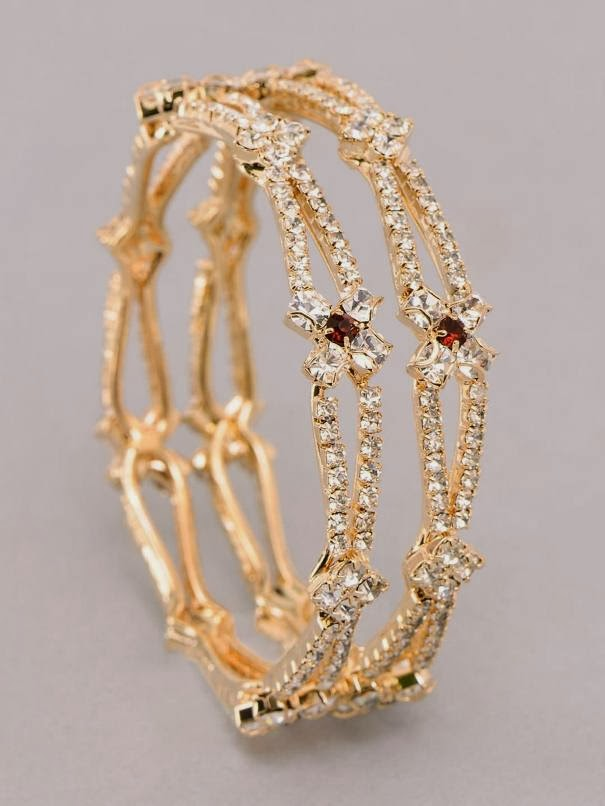Latest Gold Bangles Design 2014 for women - Yoga Jasmine Camelia 03