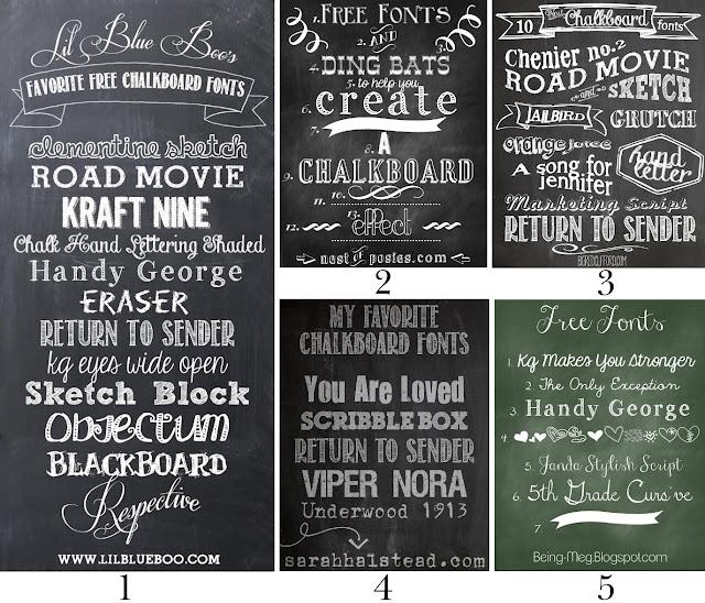 FREE FONT Three Pack  Chalkboard Handwritten  personal