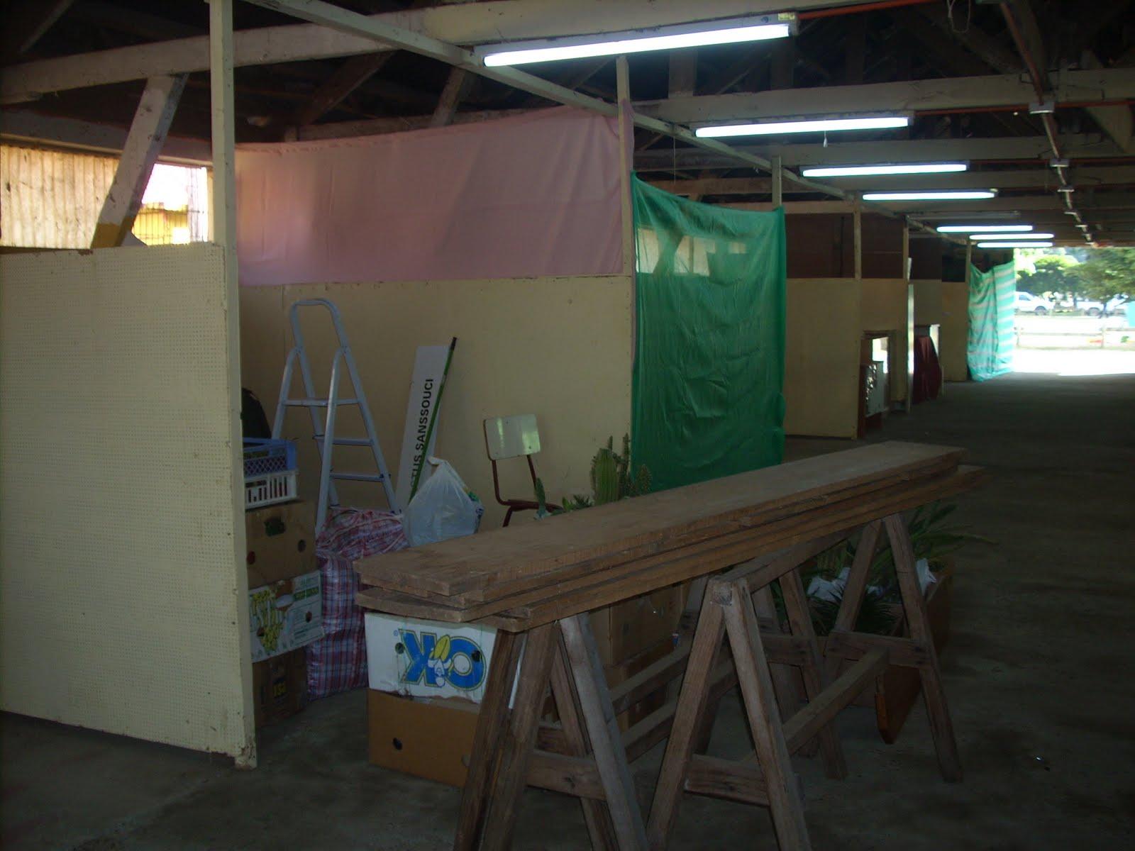 vivero sanssouci febrero 2011 armado de la feria saval