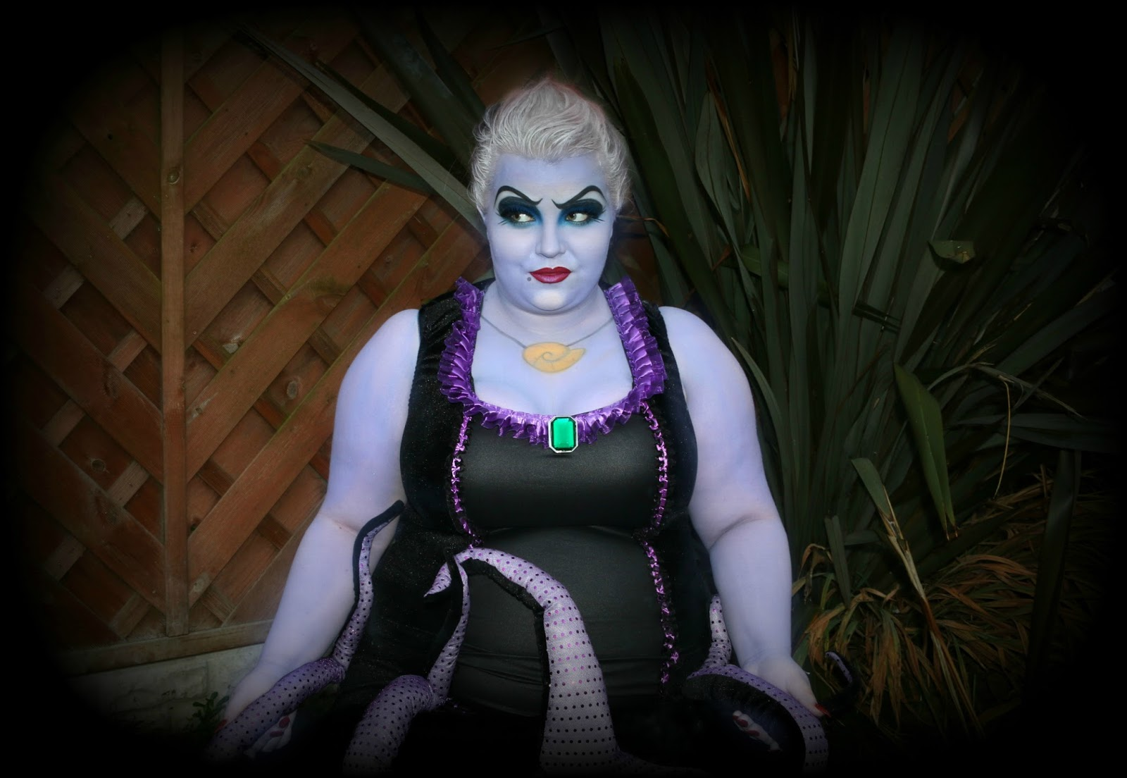 Halloween Ursula Makeup and Costume from Plus Size Lingerie ...