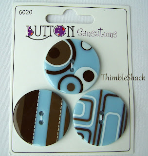 Large unusual retro buttons, duck egg blue, brown, sewing, knitting, bag making, ThimbleShack.