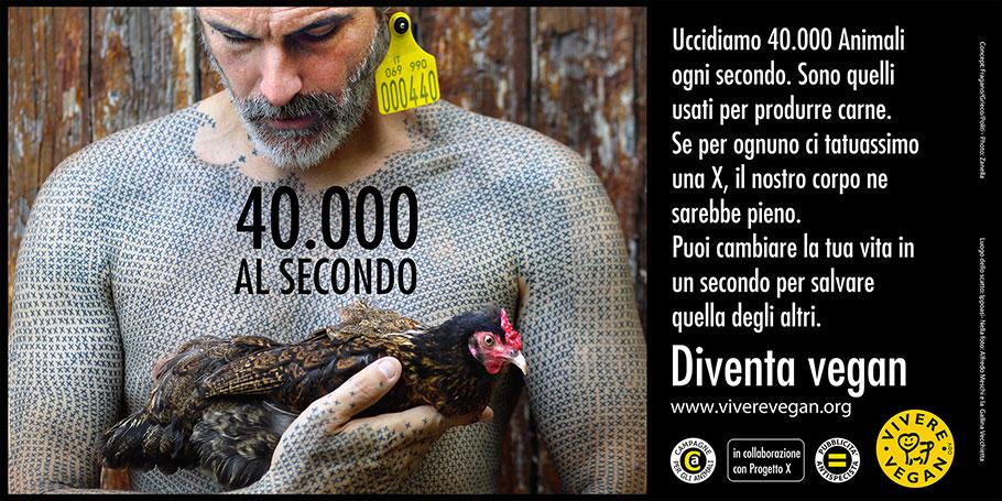 UCCIDIAMO OLTRE 40.000 ANIMALI AL SECONDO: DIVENTA VEGAN