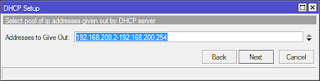 select pool ip addresses given out by dhcp server