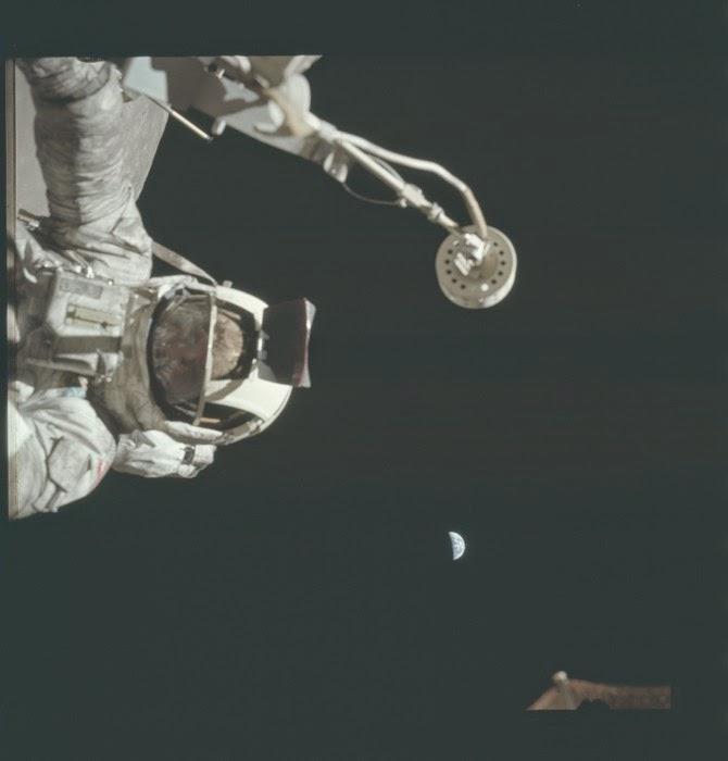Alien Wears Apollo 17 Astronaut Suit