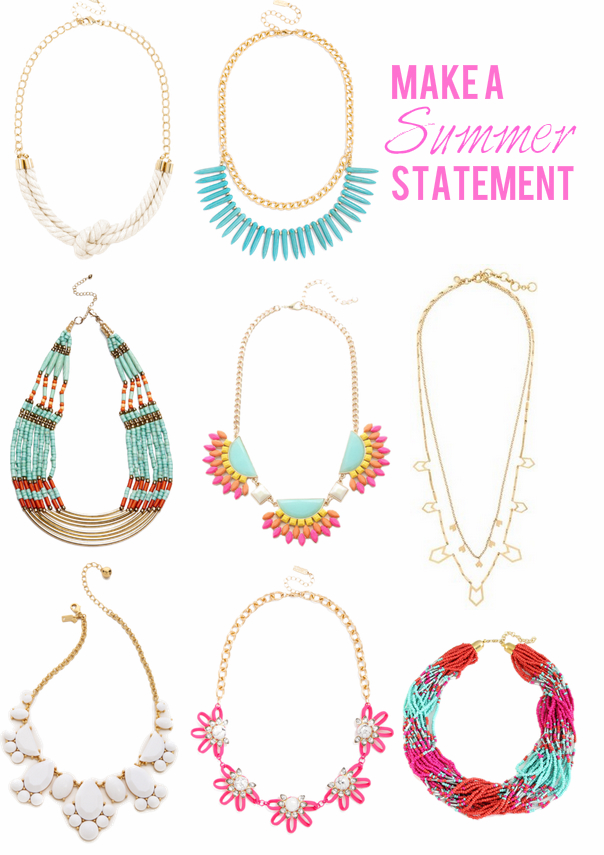 Statement Beaded Necklaces Summer 2014