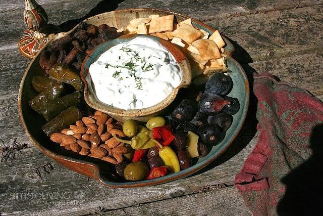 Tzatziki Greek Appetizer Plater: simplelivingeating.com