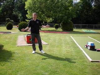 At the Bracknell Crazy Golf course at Jocks Lane Recreation Ground
