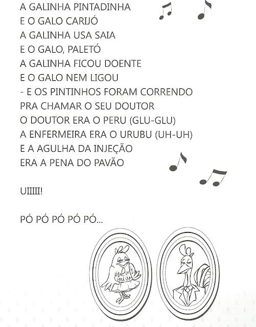 Atividades Galinha Pintadinha