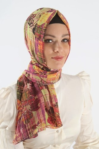 Scarf Styles 2014 Printed Hijab For Different Face Shapes Hijab Scarf Fashion