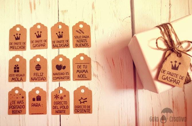etiquetas Navidad Gota Creativa
