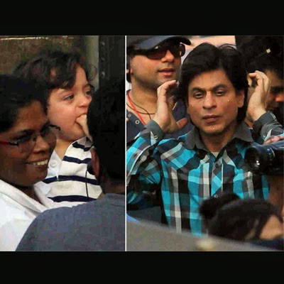 AbRam watching his dad, SRK shoot for Fan