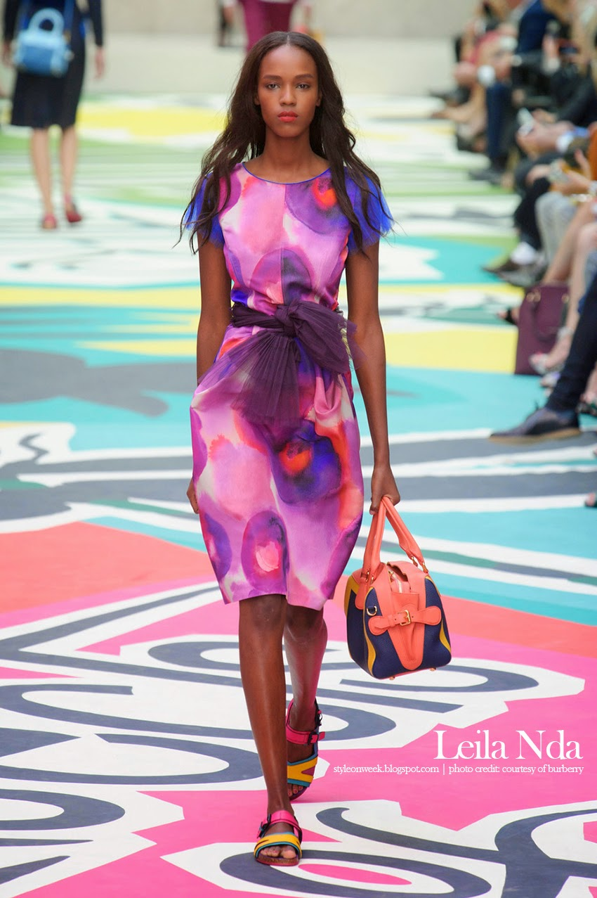Leila Nda at Burberry Prorsum Womenswear Spring-Summer 2015 Collection Look