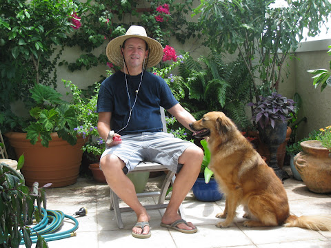 The gardener and his helper- rest in peace old boy. See you on the other side.