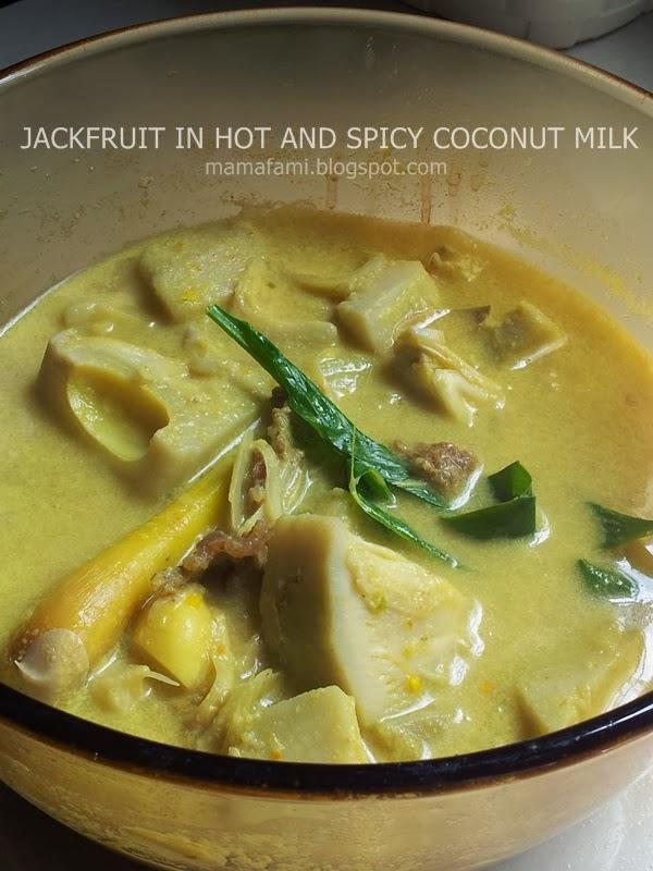 jackfruit in spicy and hot coconut milk gravy