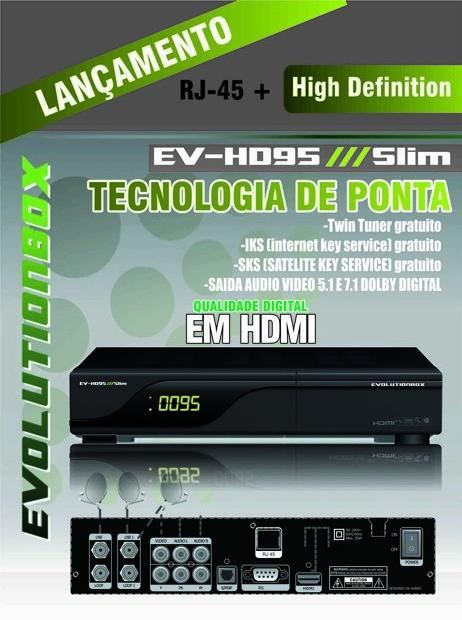 EVOLUTIONBOX EV 95 HD SLIM NOVA ATUALIZAÇÃO - V 1.25 - 27/07/2013