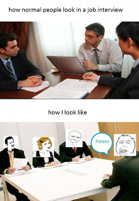 job interview meme @ everything's hanging on this moment