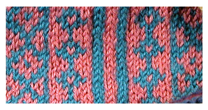 """TECHknitting: """"Picture Frame"""" your color knitting to eliminate the ..."""