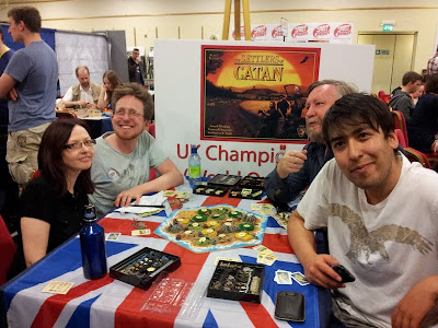 Settlers of Catan - Sam (back left) the winner of the 2012 championship
