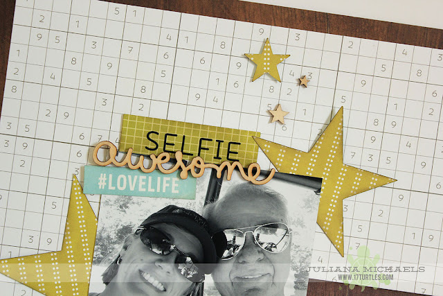 Awesome Selfie Today Dad Scrapbook Page by Juliana Michaels featuring Pebbles Inc
