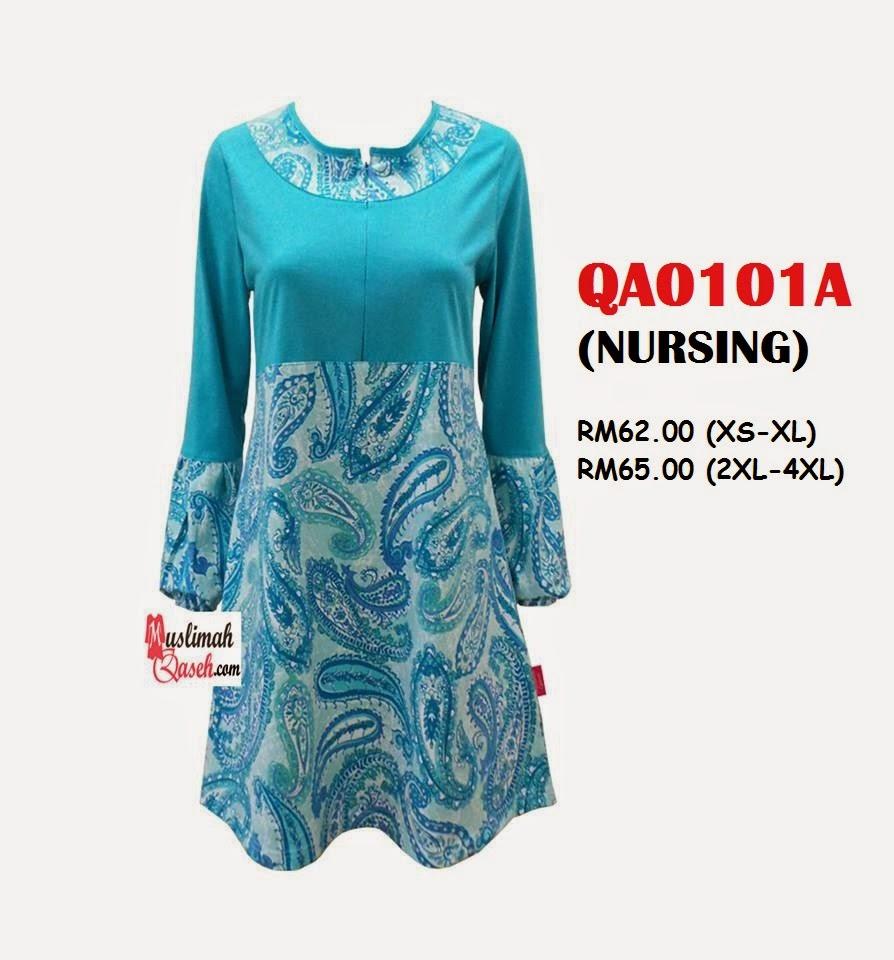 T-Shirt-Muslimah-Qaseh-QA0101A