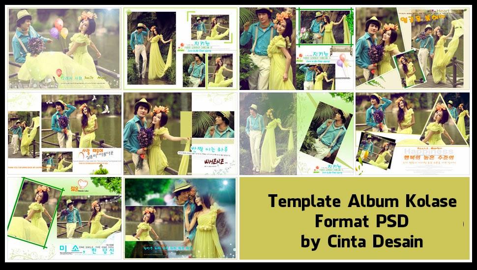 Template Album Kolase Format PSD Volume-5 - Album Kolase
