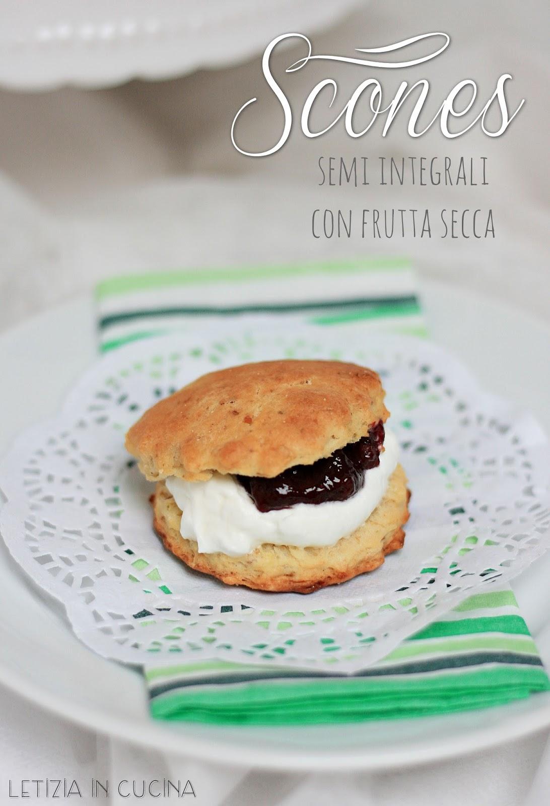 Letizia in Cucina: Scones semi integrali con frutta secca - Contest ...