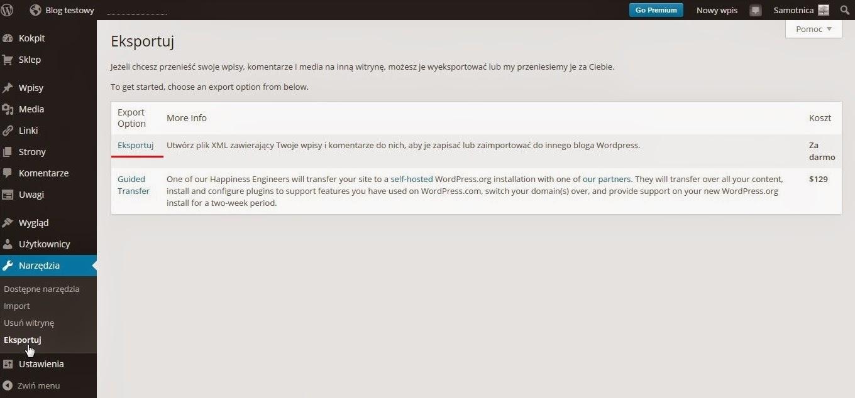 Wordpress - tworzenie kopii zapasowej