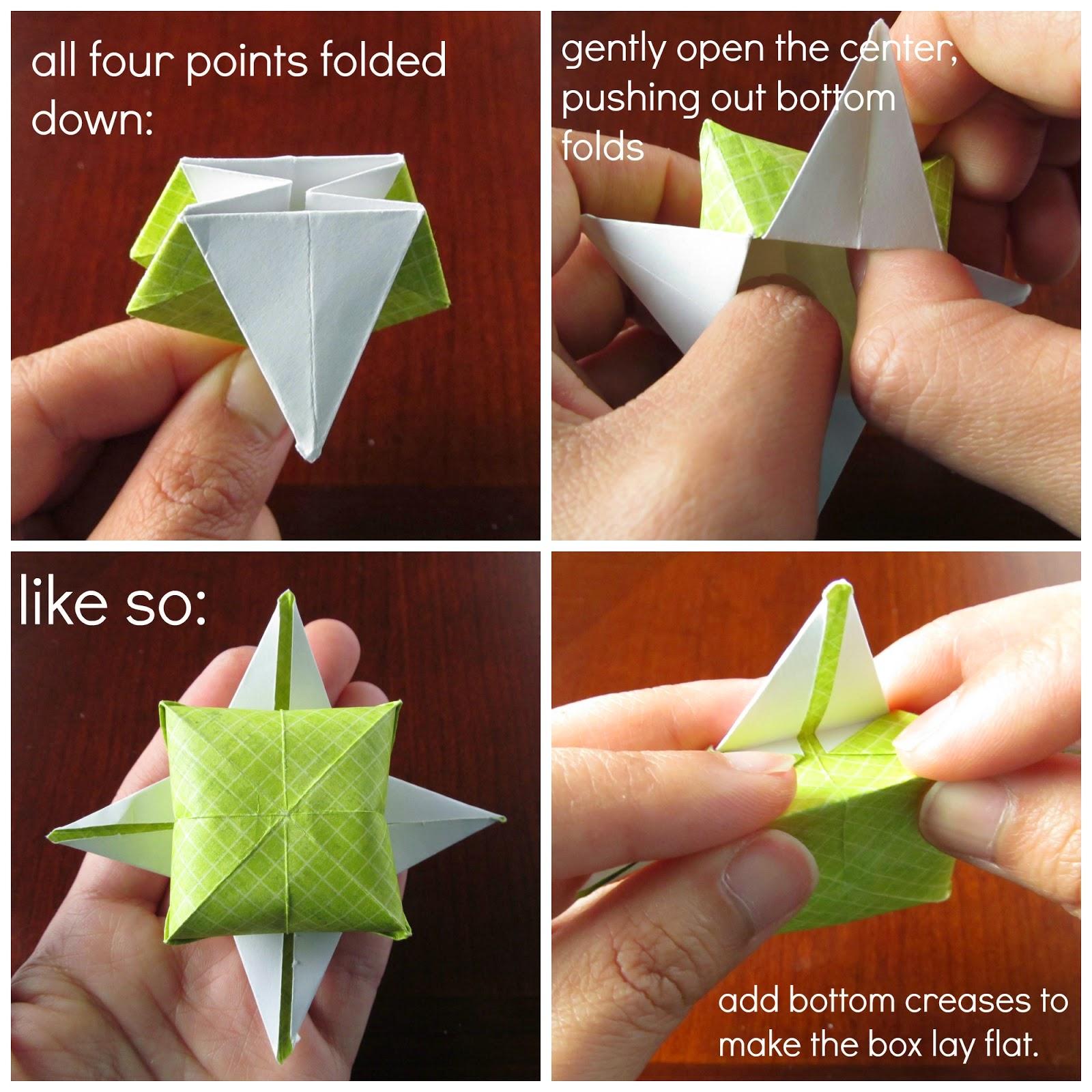 Four point star origami treat box muslin and merlot jeuxipadfo Gallery