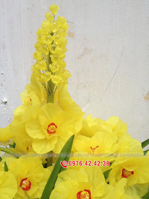 Mẫu hoa pha lê lan hồ điệp hai tầng