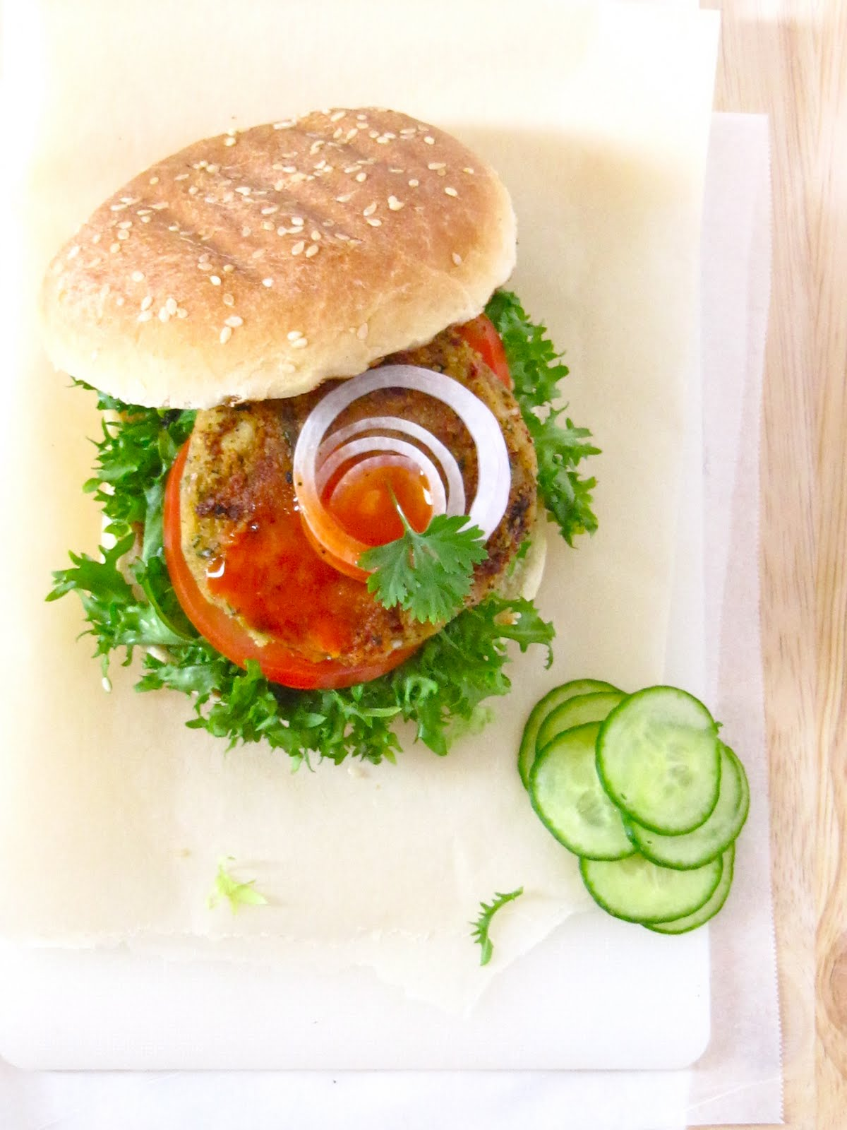 Plateful: Chickpea Burger — guilt-free, veggie option to ...