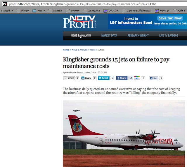 NDTV steals pirate my Kingfisher Airlines picture