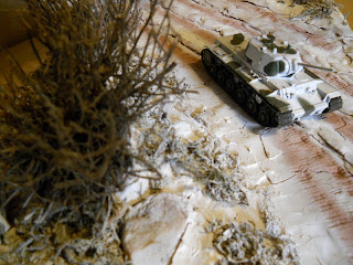 winter scene diorama of the Second World War