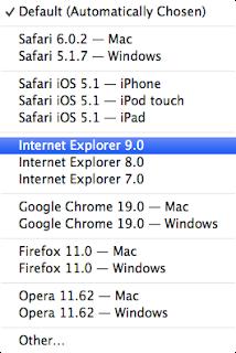 Safari ユーザーエージェント変更