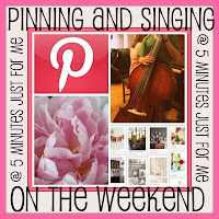 Please join me every Friday for my weekly Pinterest Party, Pinning & Singing on the Weekend.