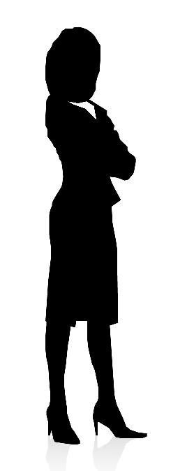 Silhouette woman in suit