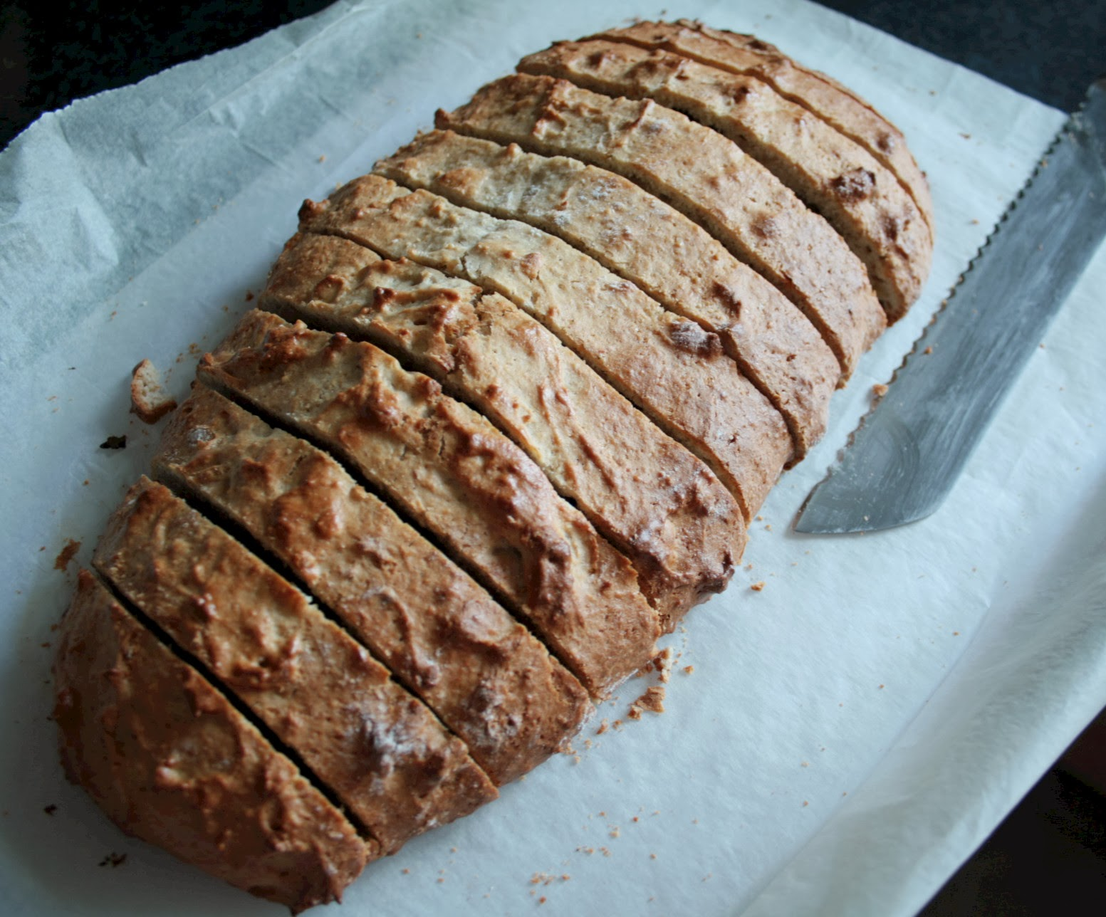 Overripe bananas are perfect to use in this recipe for banana and nut biscotti