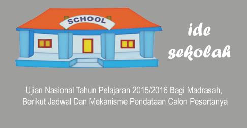 Mekanisme Pendataan Ujian Nasional Un Madrasah Tahun