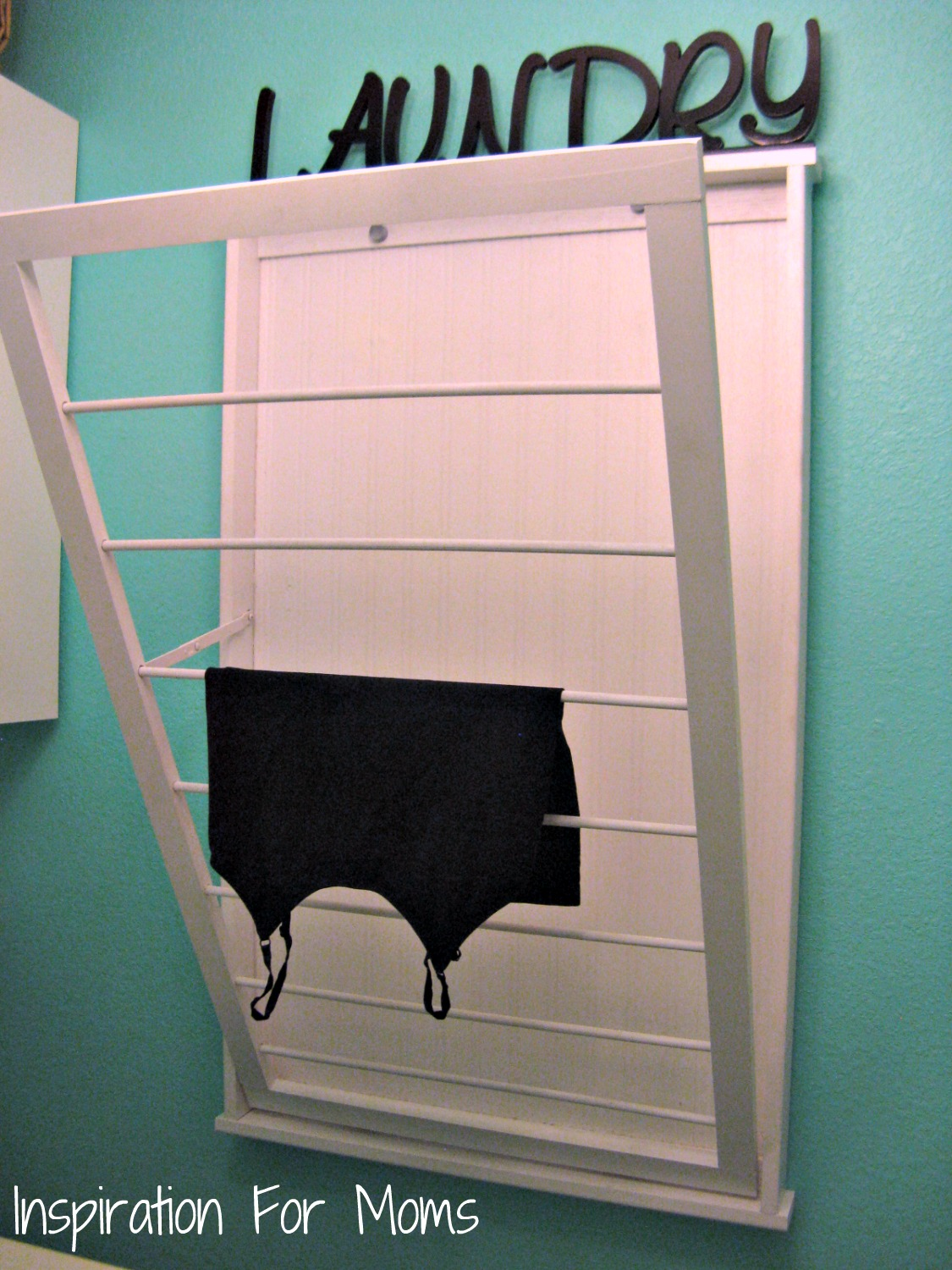 I finished it friday ballard designs inspired beadboard Laundry room drying rack ideas