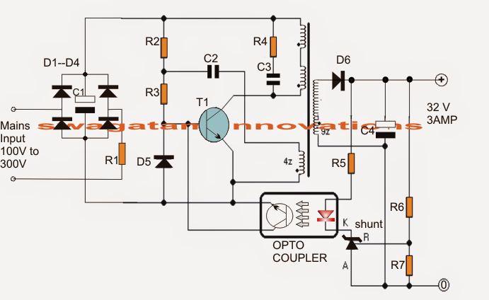 32V 3 Amp LED Driver Circuit Electronic Projects