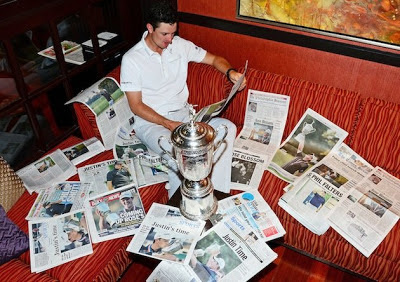 Justin Rose trophy Photo