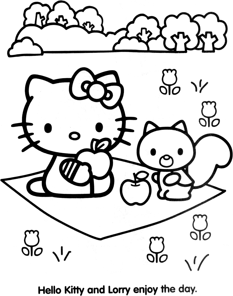 Coloriage Hello Kitty Dessins de Hello Kitty a colorier et  - coloriage à imprimer hello kitty