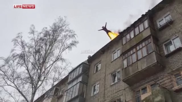 Russian Teen Sets Himself On Fire And Jumps Off A 5-Story Building