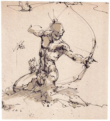 Hire me original art for sale sketch after frazetta no 1